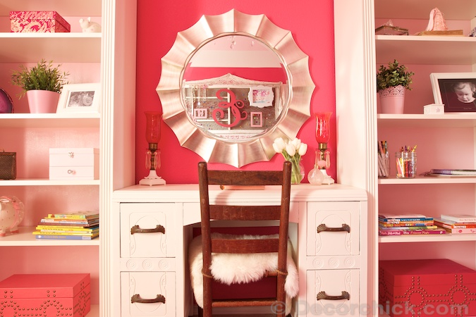 Girl Room Makeover with Billy Bookcase | www.decorchick.com