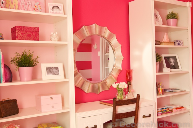 Ikea Billy Bookcase in Girl's Room | www.decorchick.com