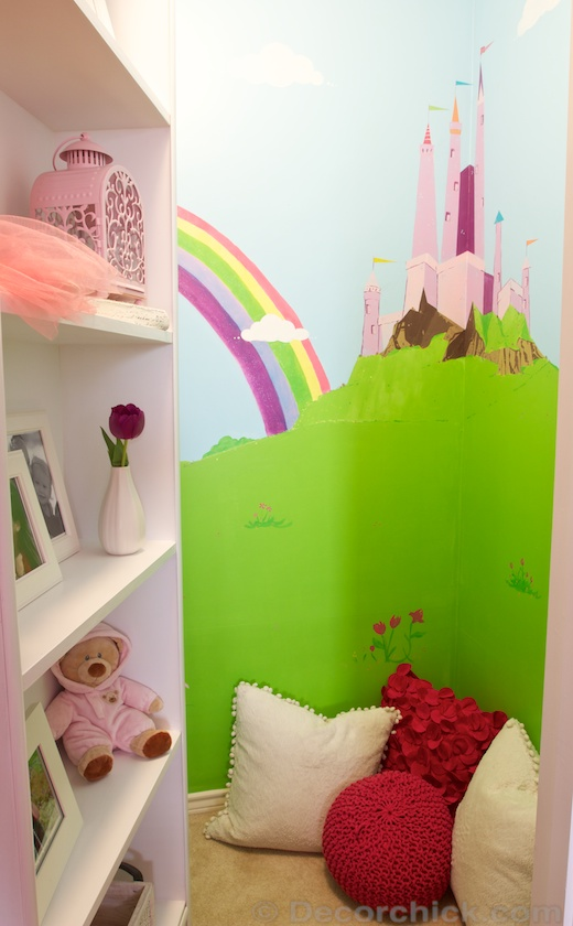 Magical Castle Closet with Secret Hidden Door | www.decorchick.com