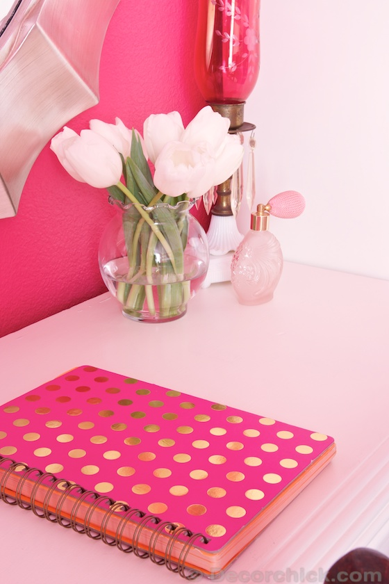 Pink Polka Dot Book | www.decorchick.com