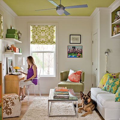 Green Painted Ceiling | www.decorchick.com
