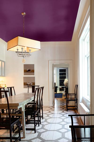 Purple Painted Ceiling | www.decorchick.com