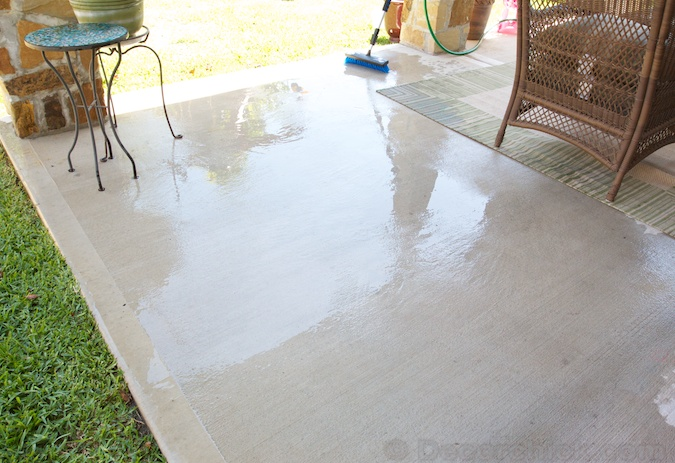 Shiny Clean Concrete | www.decorchick.com