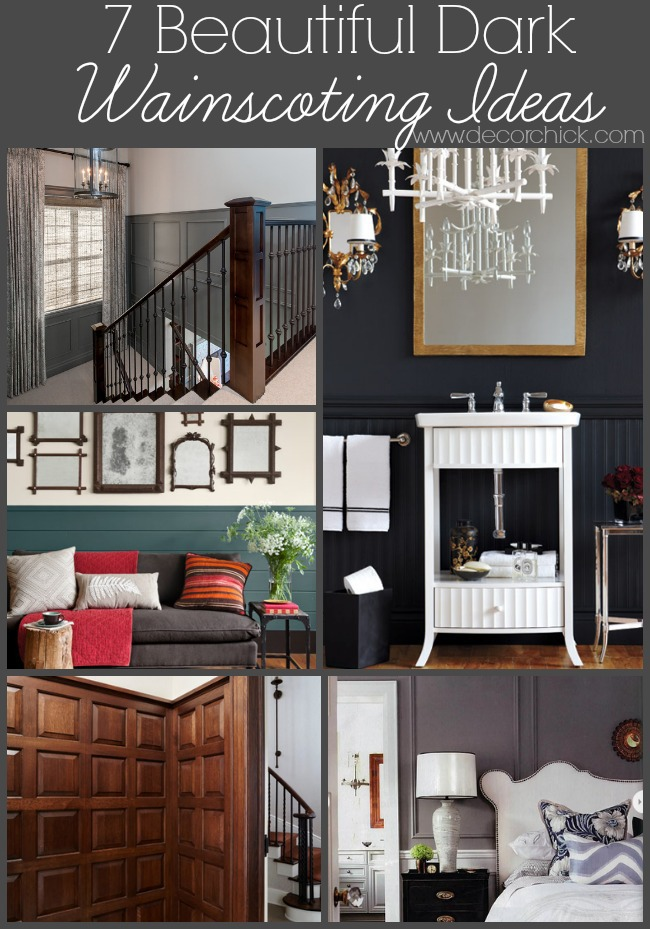 7 Beautiful Dark Wainscoting Ideas | www.decorchick.com
