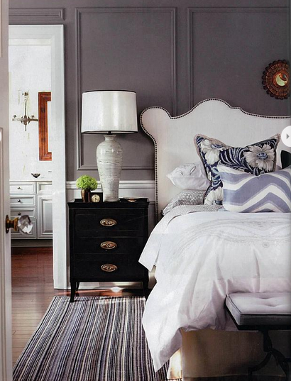 Grey Wall with Dark Wainscot | www.decorchick.com