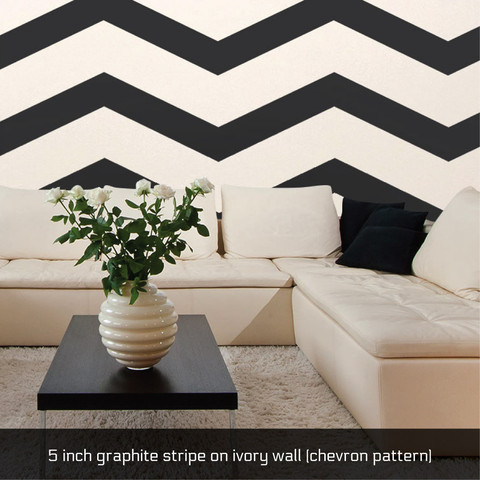 Large Chevron Stripe Removeable Wallpaper | www.decorchick.com