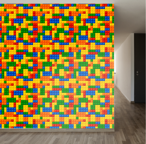 Lego Wallpaper | www.decorchick.com
