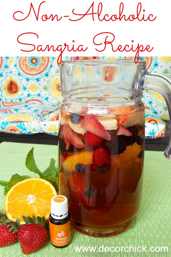 Non Alcoholic Sangria Recipe | www.decorchick.com
