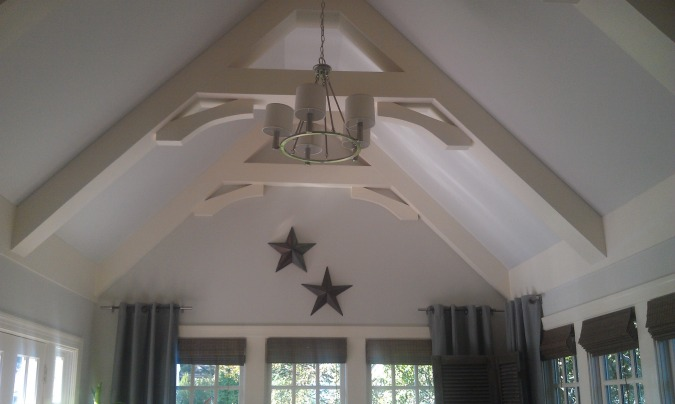 Painted Wood Beams | www.decorchick.com