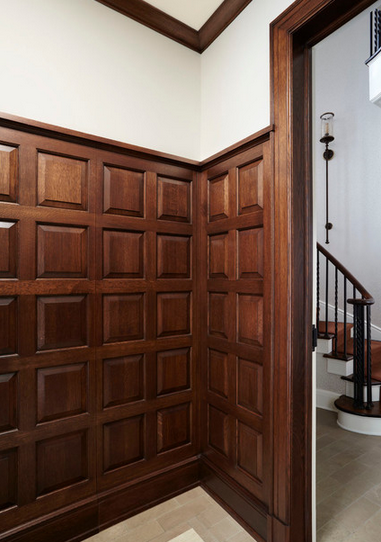 Stained Wood Wainscoting | www.decorchick.com