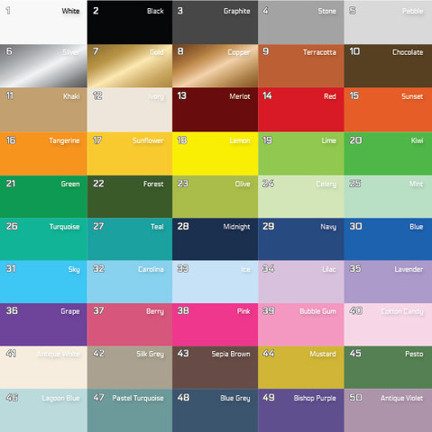 Stripe Color Chart | www.decorchick.com