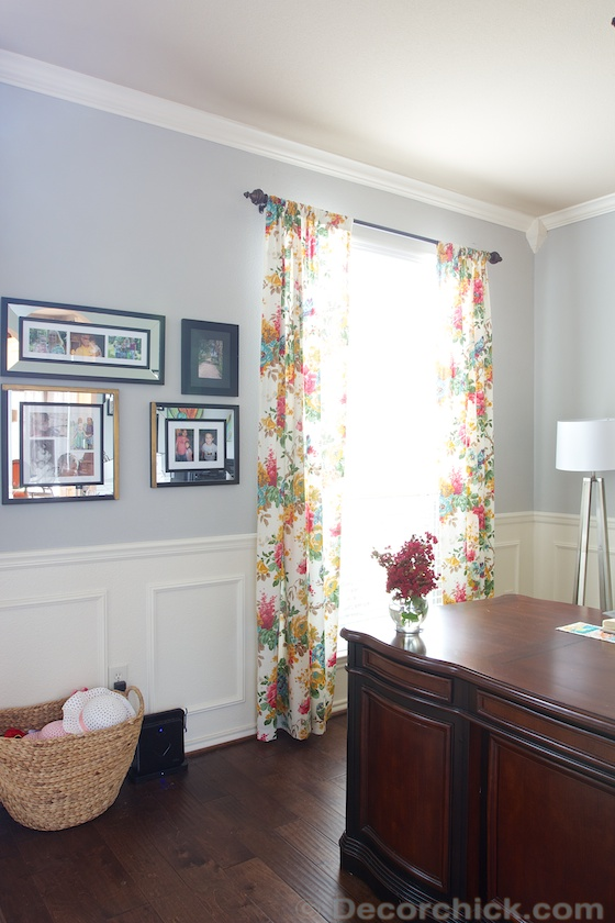 Floral Office Curtains | www.decorchick.com
