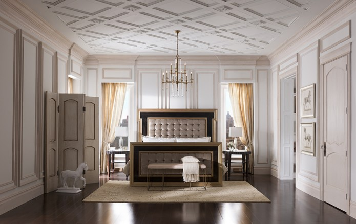 beautiful moulding treatment on ceiling wwwdecorchickcom - Ceiling Molding Design Ideas