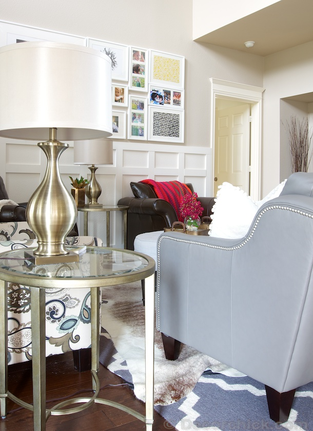 Gold End Table From Birch Lane | www.decorchick.com
