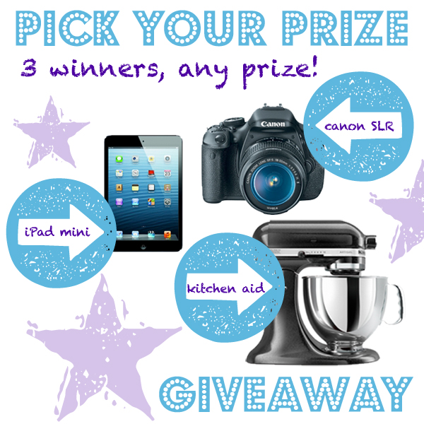 Amazing Pick Your Prize Giveaway. 3 Winners can Choose! | www.decorchick.com
