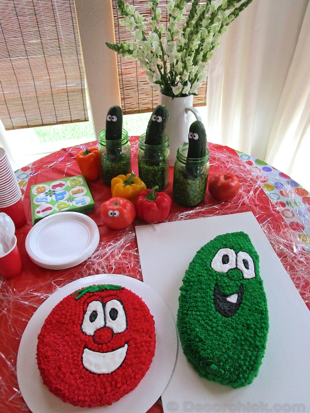 Veggie Tales Table Decoration | www.decorchick.com