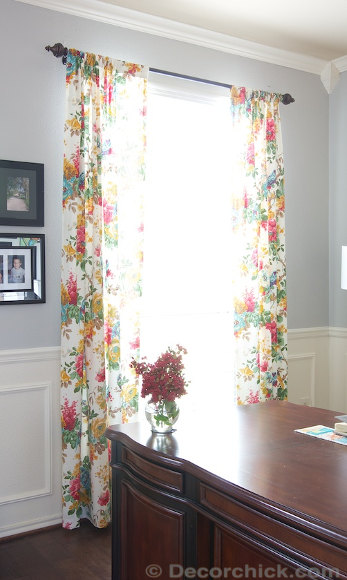 World Market Curtains in Office | www.decorchick.com