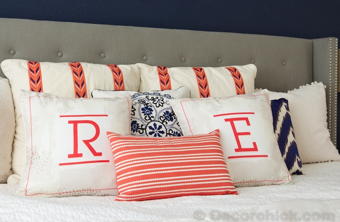 His and Her Monogrammed Pillows | Decorchick!®