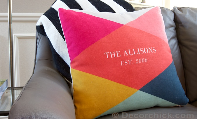 Monogram Pillow From Tiny Prints | Decorchick!®