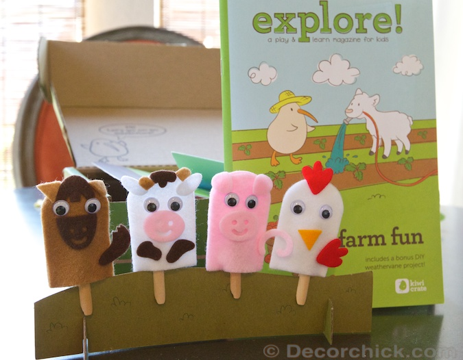 Barnyard Finger Puppet Kid Craft | Decorchick!®