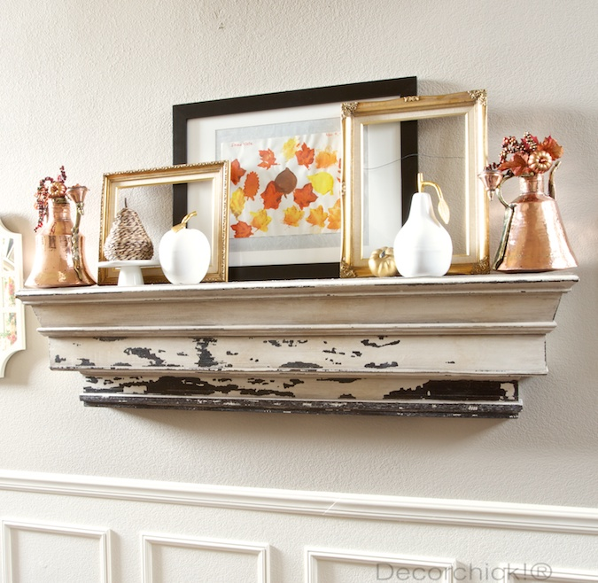 Fall Mantel with Copper and Gold | Decorchick!®