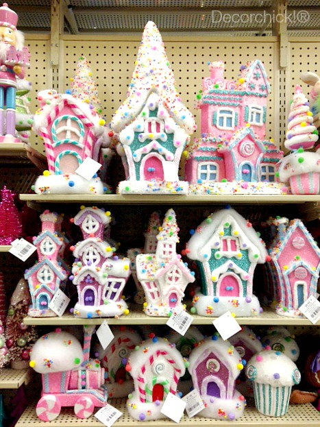colorful gingerbread houses e6922fd2e880fd6ebd590fe4b935e53e hobby lobby christmas decorations - Candy Christmas Decorations Hobby Lobby