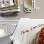 Give Thanks Monogram Throw | Decorchick!®
