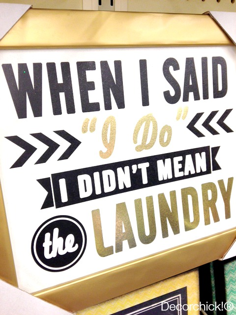 Funny Laundry Sign | Decorchick!®