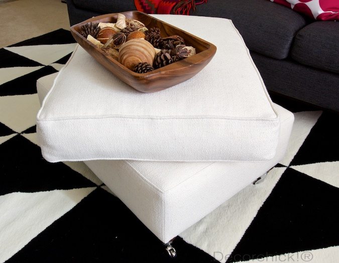 Removeable Ottoman Cushion | Decorchick!®