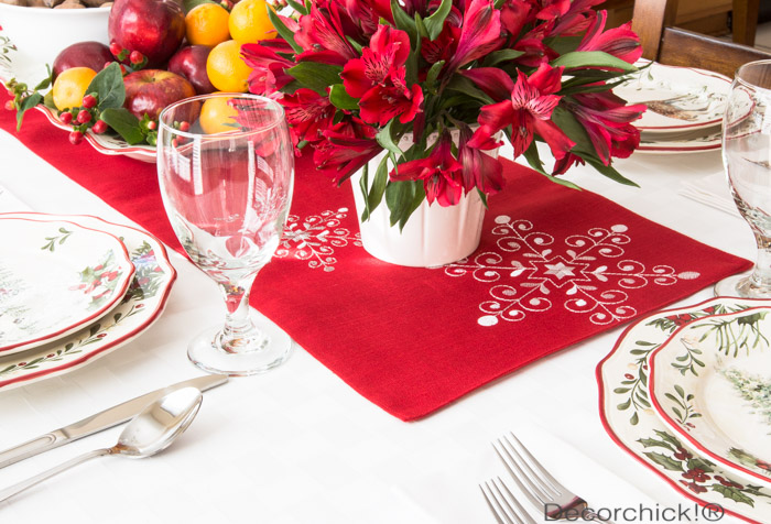 Christmas Table Setting | Decorchick!®