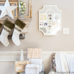 Personalized Christmas Stockings and Wrapping Paper! (Plus Mantel Peek)