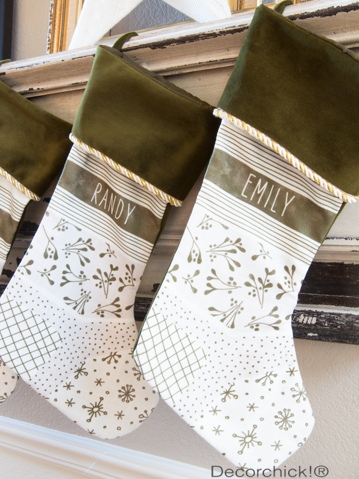 Monogram Stockings | Decorchick!®