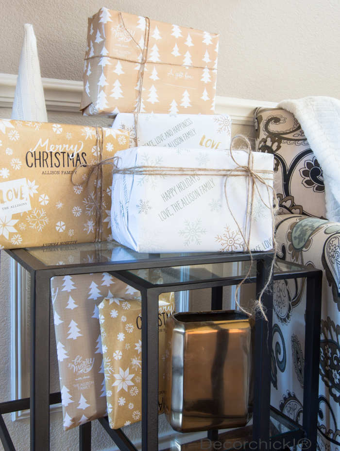 Neutal Wrapping Paper Personalized | Decorchick!®