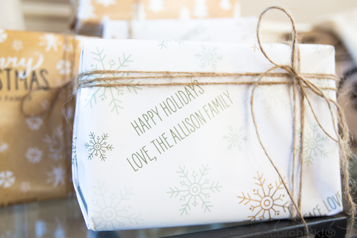 Wrapping Paper with Names | Decorchick!®