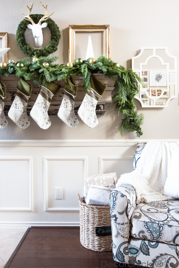 Fresh Greens Christmas Mantel | Decorchick!®