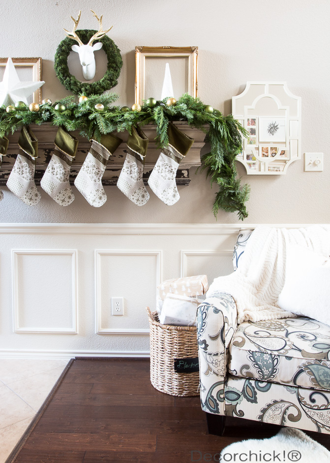 Green and Gold Mantel | Decorchick!®
