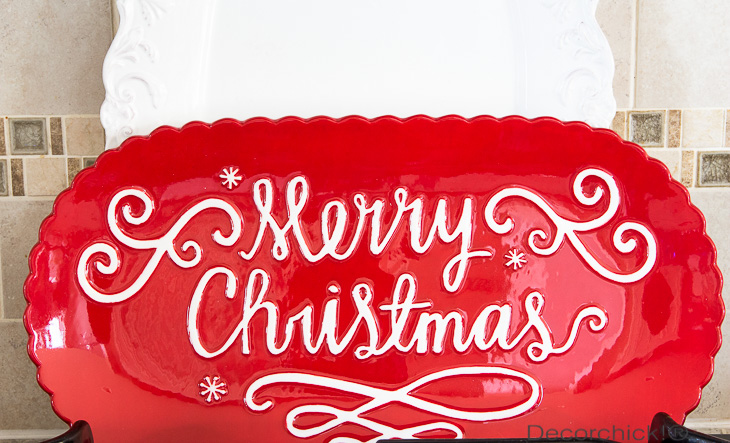 Merry Christmas Platter | Decorchick!®