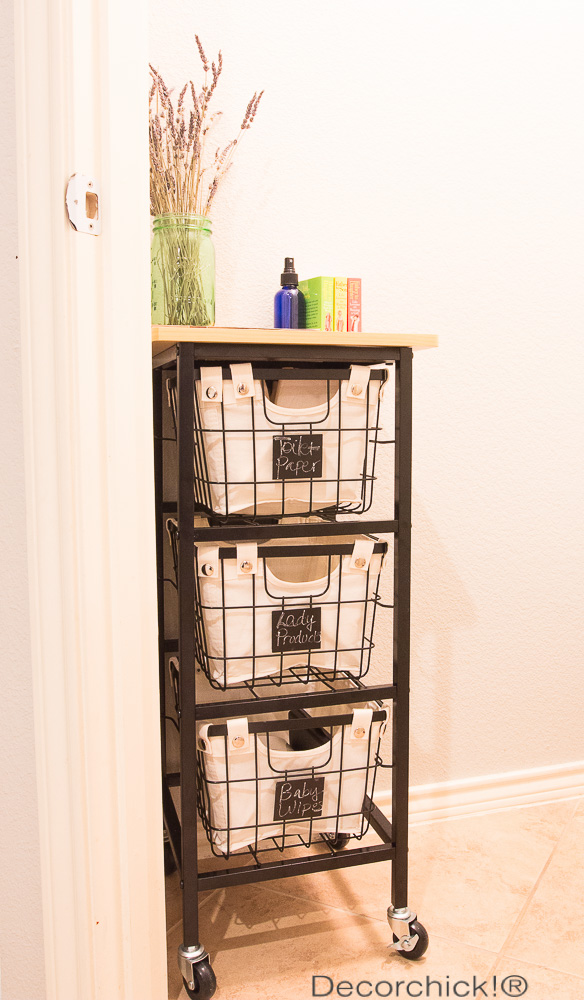Bathroom Storage Rolling Cart Decor
