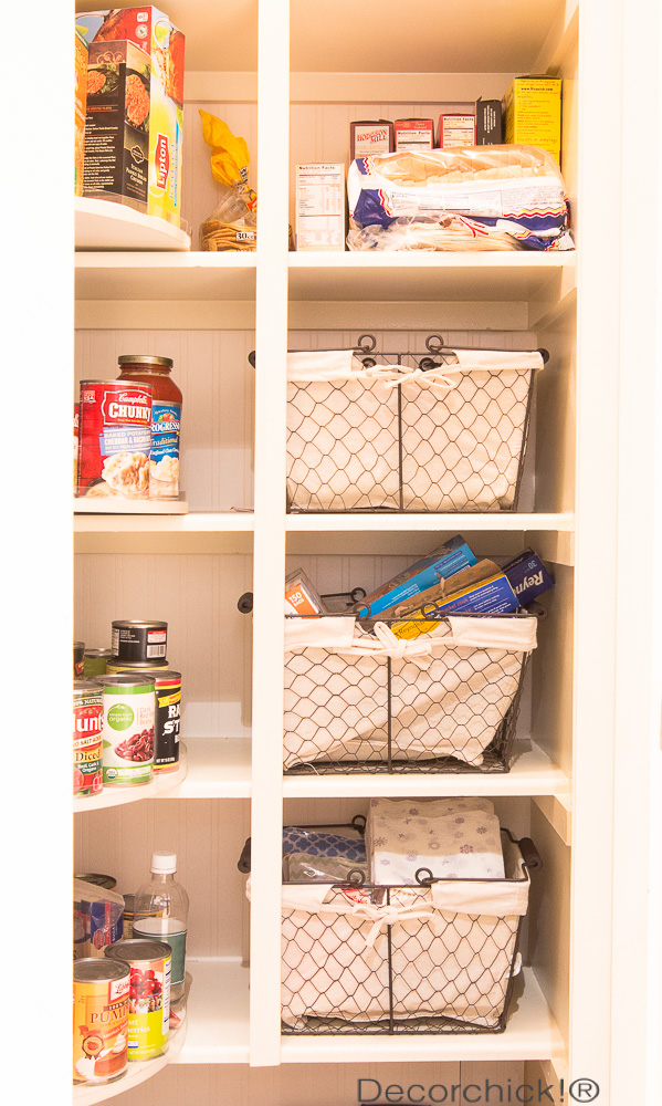 Wire Storage Baskets in Pantry | Decorchick!®