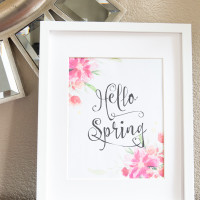 Hello Spring Printable | Decorchick!®