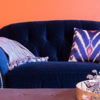Blue Velvet Chair | Decorchick!®