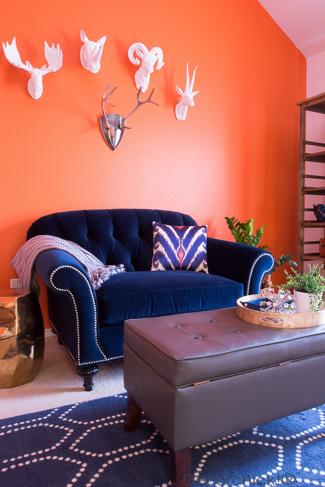 Orange Room Makeover | Decorchick!®