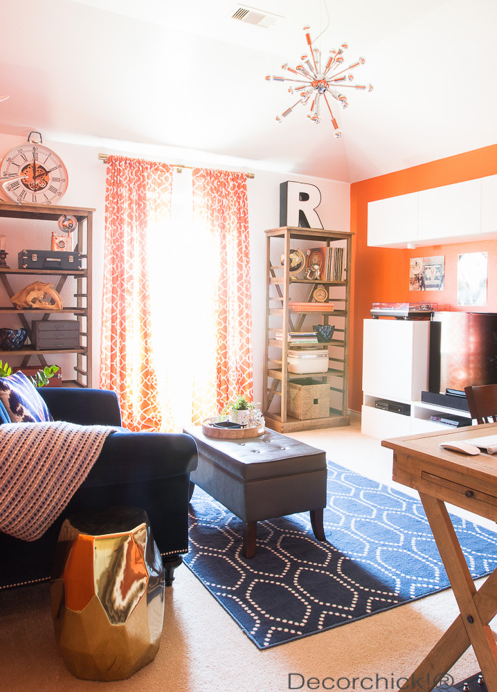 Orange Room Makeover and Man Room | Decorchick!®