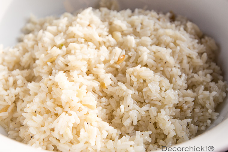 Garlic Ginger Rice | Decorchick!®