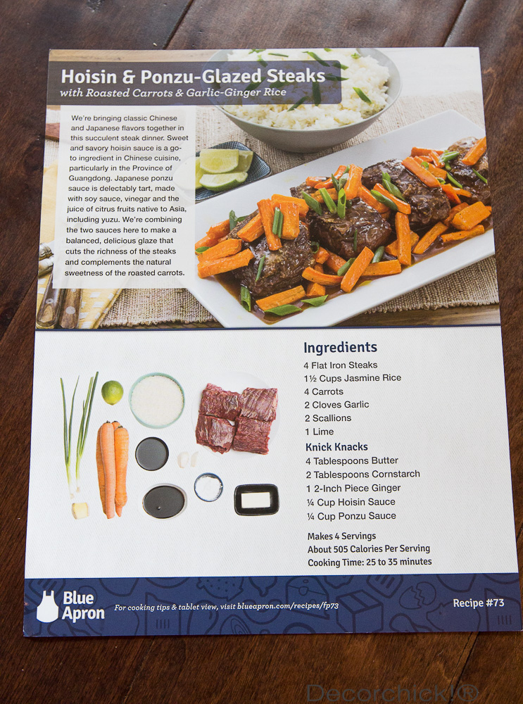 Glazed Steak Recipe from Blue Apron | Decorchick!®