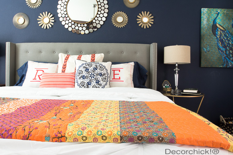 Navy and Orange Bedding | Decorchick!®