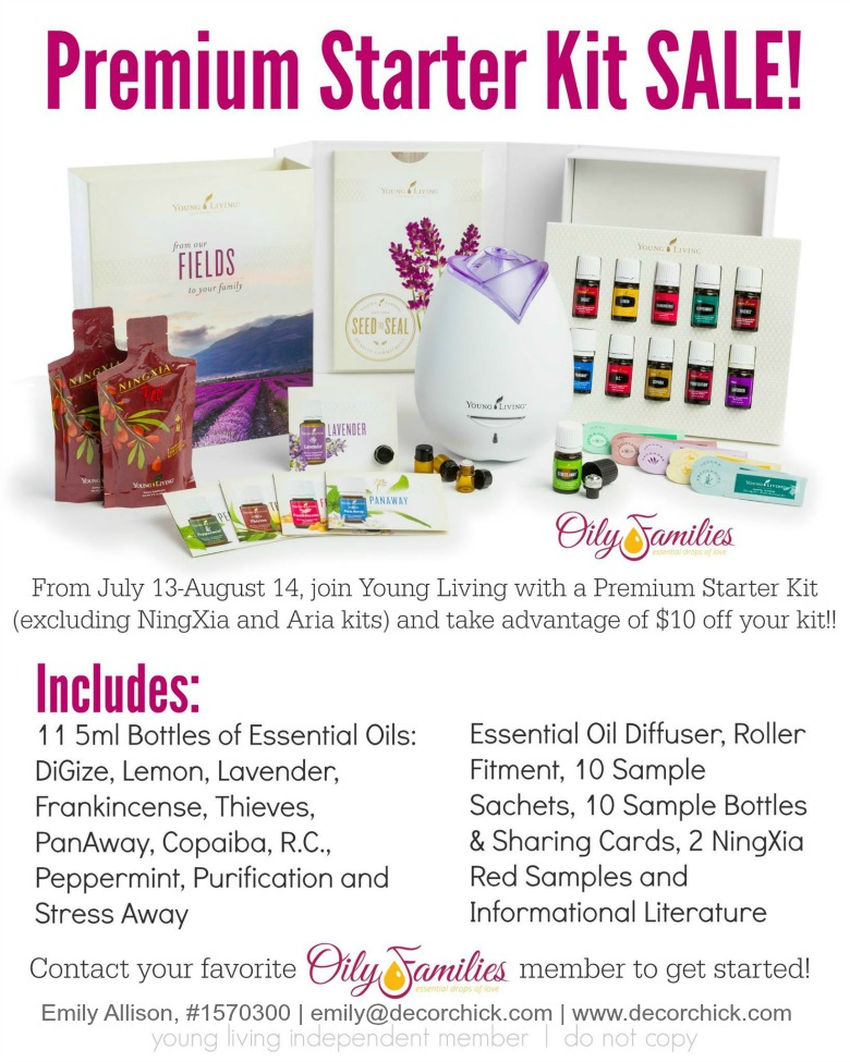 Premium Starter Kit Sale from Young Living | Decorchick!®
