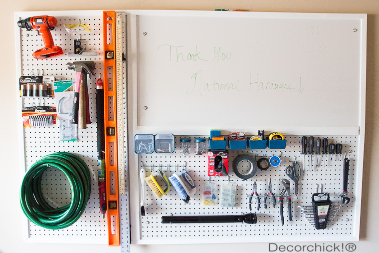 Garage Peg Board Organization | Decorchick!®