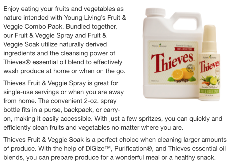 Thieves Veggie Spray | Decorchick!®