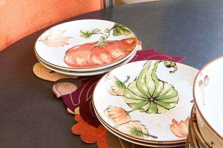 Better Homes and Gardens Pumpkin Plate | Decorchick!®